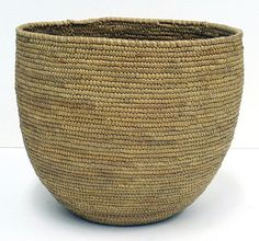 Coiled Grass Basket | Likely from a Coast Salish (Native American) craftsperson