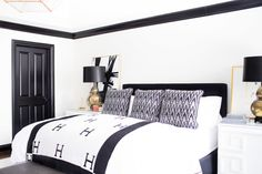 White and Black Bedrooms - Eclectic - bedroom - Sherwin Williams Westhighland White - Alexis Bednyak Design