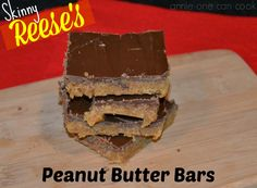 Skinny Reese's Peanut Butter Bars. All of the decadence; less of the guilt!