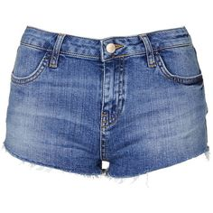 TopShop Moto Vintage Daisy Short (38 CAD) ❤ liked on Polyvore featuring shorts, bottoms, denim shorts, mid stone, jean shorts, denim cutoff shorts, short jean shorts and cut off jean shorts