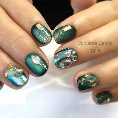 Chouette Heure☆ in 2019 Nails Only, Get Nails, How To Do Nails, Pretty Nail Designs, Nail Art Designs, Sassy Nails, Kawaii Nails, Pedicure Designs, Nail Candy