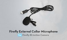 Firefly External Microphone Lavalier Omnidirectional for Hawkeye Action Camera Sports Camera, Hawkeye, Action, Group Action