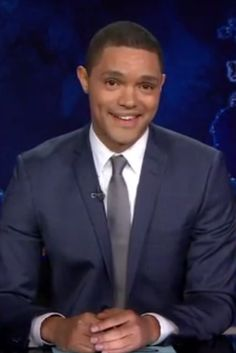 "Trevor Noah started his first episode as the new host of The Daily Show acknowledging that this is weird for everybody, including him. Jon Stewart has been a trusted source of news for 16 years and now this new guy is here. Trevor Noah put it like this: ""it's like dad has left the house and you have a new younger, step-dad…….and he's black."""