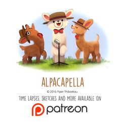 Daily Paint 1464. Alpacapella by Cryptid-Creations.deviantart.com on @DeviantArt