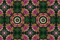 Green ornamental pattern. Patterns. $5.00