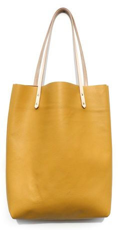 Colorblock Leather Tote by Cold Picnic