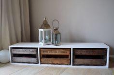Sideboards - Sideboard / TV Bank mit Weinkisten - ein Designerstück von waterman85 bei DaWanda