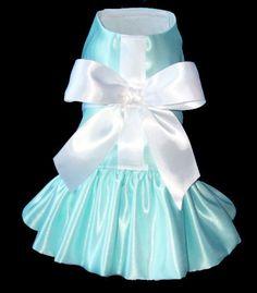 Tiffany Gift Box Dog Dress small dog dress by ChloeBellaDesigns