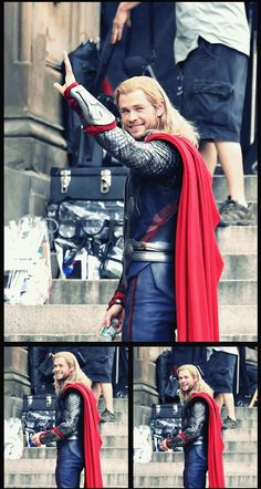 Something about Thor, His smile, His Hammer and his pretty blonde hair