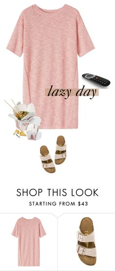 """lazy day"" by mimas-style ❤ liked on Polyvore featuring Toast and Birkenstock"