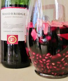 Holiday Sangria 1 pomegranate, seeded 6 ounces fresh cranberries 1 pear, cut into small pieces 1 small green apple, cut into small pieces 1 bottle red wine (I prefer Cabernet or Red Zinfandel) 3 cups ginger ale teaspoon cinnamon Dash allspice Holiday Sangria, Holiday Drinks, Party Drinks, Cocktail Drinks, Fun Drinks, Yummy Drinks, Holiday Recipes, Beverages, Winter Sangria