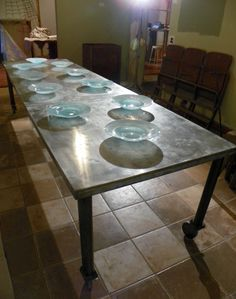 41 exciting dining room tables images zinc table kitchen dining rh pinterest com