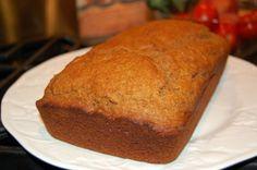 Whole-Wheat Healthy Pumpkin Bread Recipe: Whole-Wheat Pumpkin Bread. This bread is so delicious, I will definitely be making it often! Quick Bread Recipes, Banana Bread Recipes, Pumpkin Recipes, Whole Food Recipes, Cooking Recipes, Healthy Recipes, Easy Recipes, Healthy Snacks, Healthy Eating