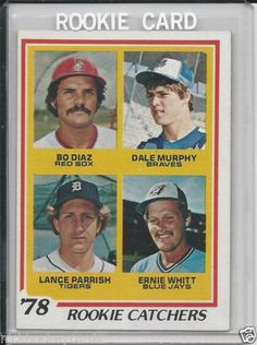 1978 Topps Rookie Catchers Dale Murphy / Lance Parrish Rookie # 708 NM