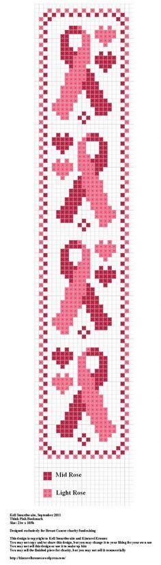 cancer bookmark cross stitch