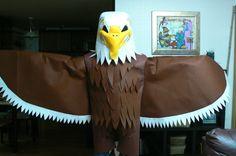 Spirit Week and Pep Rallies Eagle Mascot, Bird Costume, Pep Rally, Korean American, Spring Festival, Mascot Costumes, School Spirit, Pheonix Costume, Costume Ideas