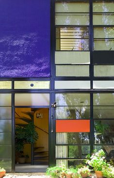The Eames House- Colour in the windows but why not coloured glass?