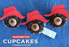 How to make Paddington Bear Cupcakes  ||  via LivingLocurto.com