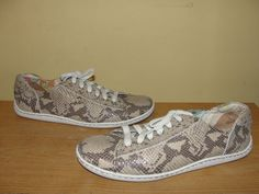 BORN Sneakers Womens Shoes Sport Leather Lace-Up Snakeskin Print Size 9.5 #Brn #Comfort