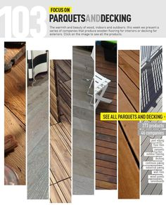 Archiproducts Focus on #parquet and #decking #wood www.archiproducts.com/fb/FocusOn146641/focusOn103.html