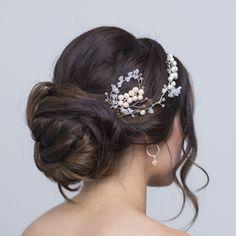 Aria Pearl Hairpins – Alexandra Bespoke Pearl Hair Pins, Circlet, Hair Pieces, Fresh Water, Bespoke, Vines, Swarovski Crystals, Pearls, Boho