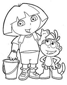 Dibujo para colorear de Dora la Exploradora (nº 5)