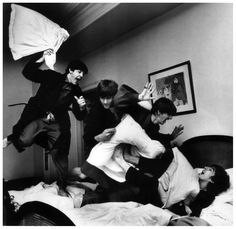 Beatles Pillow Fight, by Harry Benson 1964