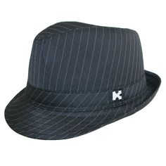 Kenny K brand fedora hat features a matching hatband with a K patch. A stylish addition to your formal event including weddings, theater performances, holidays and dances. The stingy upturn brim measures 1.5 inches. One size fits up 52 to 54 cm.