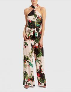 7d0989201d31 EX18092 - Nude Paradise Print Jumpsuit - U Collection