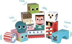 Cubes sonores de la Mer Ingela P. - Galeries Lafayette Vilac Sound cubes from the Se Cubes, Arty Toys, Cube Toy, Baby Store, Wooden Blocks, Made Of Wood, Toddler Toys, Game Design, Illustrators