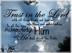 We Must Trust in God | What a wonderful testimony we have beengiven through this man of faith ...