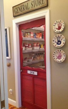 Replace The Pantry Door With A Screen Door To Add A . Home and Family Kitchen Redo, Kitchen Pantry, New Kitchen, Kitchen Ideas, Kitchen Cabinets, Kitchen Colors, Eclectic Kitchen, Kitchen Small, Small Kitchens