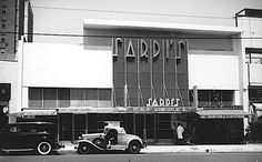 Sardi's restaurant on Hollywood Boulevard, mid-1930s Sardi's restaurant on Hollywood Boulevard, near the Vine Street corner. It was only open from 1932 until 1936, when it was destroyed by fire. But while it was open, it was one of the swankiest places in Hollywood to eat. via martin turnbull