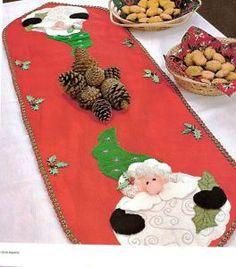 Manteles de Navidad en Fieltro,Pie de Arbol y Caminos de Mesa En Fieltro y Paño…