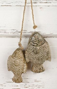 Coastal Decor - Home Decor/ add to wreaths, swag/toppers, net, many beach style accent uses for resin 4 and 5 in carved fish