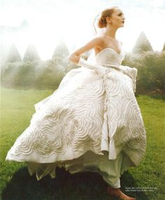 """Our """"Dahlia"""" gown looking super romantic in Washingtonian Bride & Groom magazine"""