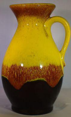 Jasba N 646 12 18 WGP design Keramik Vase 60s Vintage art Pottery Modernist   | eBay
