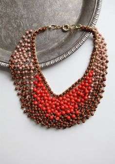 beaded statement necklace #ruche