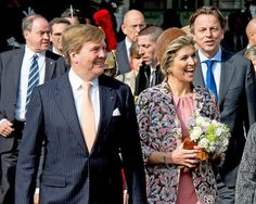 King Willem-Alexander and Queen Maxima of The Netherlands attend an strategic business dialogue at Les Docks in Paris, France, 11 March 2016. During the meeting the King and Queen attend in the Grand Fayor an innovation parade with presentations of companies as Airbus, Peugeot, Renault, OuiBike, Danone and Dutch Weed Burger. The visits end with the signing of MoU's. The King and the Queen are in France for an state visit 10 and 11 March.