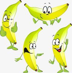 Banana, De Color De Plátanos, Creative, Amarillo PNG y PSD