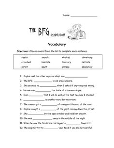Worksheet Bfg Worksheets the bfg word search and full movie on pinterest worksheets vocabulary worksheet