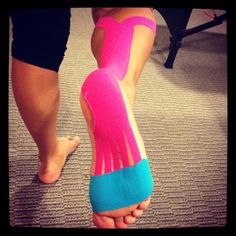 Plantar Fascitis Kinesiotape, we do this at Well Adjusted. :)