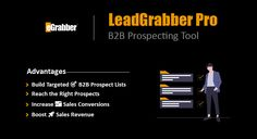 #LeadGrabberPro software which helps you to find out missing information about your #prospects. For example, you have a list of leads and you want to find company name, phone number and #emailaddress. You can use this simple tool to capture all this information with just 1 Click.  This tool is awesome when you have #leads coming in from variety  of different sources. You can combine them in LeadGrabber Pro and find the most important information for your #sales team.   #b2b #leadgeneration… Company Names, Sales And Marketing, Email Marketing, Sales Prospecting, Business Emails, Increase Sales, Competitor Analysis