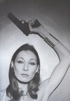 Anjelica Huston photographed by her friend Ara Gallant, the brilliant hairdresser-turned-photographer.