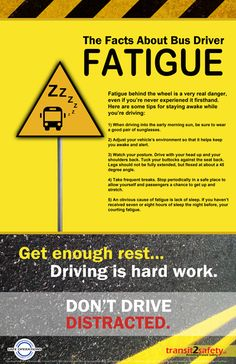 Fact about Fatigue Safety Poster