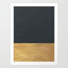 Buy Color Blocked Gold & Leather by Caitlin Workman as a high quality Art Print. Worldwide shipping available at Society6.com. Just one of millions of…