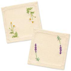 Japanese Embroidery Kit Beginner, Kazuko Aoki, Embroidery DIY Kit, Easy Stitch Tutorial, Lovely Herb Coaster, Hand Embroidery Design, EK006