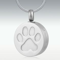 Precious Dog Paw Stainless Steel Cremation Jewelry - Engravable For my Pippy