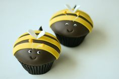 bumble bee cupcakes - love them!