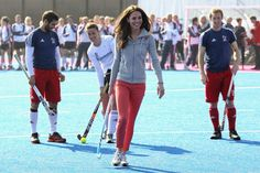 Kate Middleton Plays Field Hockey With British Team.  Kate - Hot  Pippa - Not